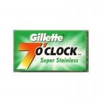 Lamette Gillette 7 O'clock Super Stainless per rasoio di sicurezza conf. 5 pz.