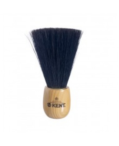 Pennellessa da barbiere in setola nera manico in ciliegio 16,5x 4,5 cm