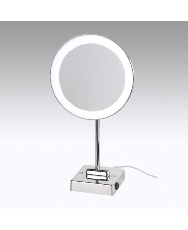 Specchio da tavolo con LED Ø 23 cm ingrandimento X3